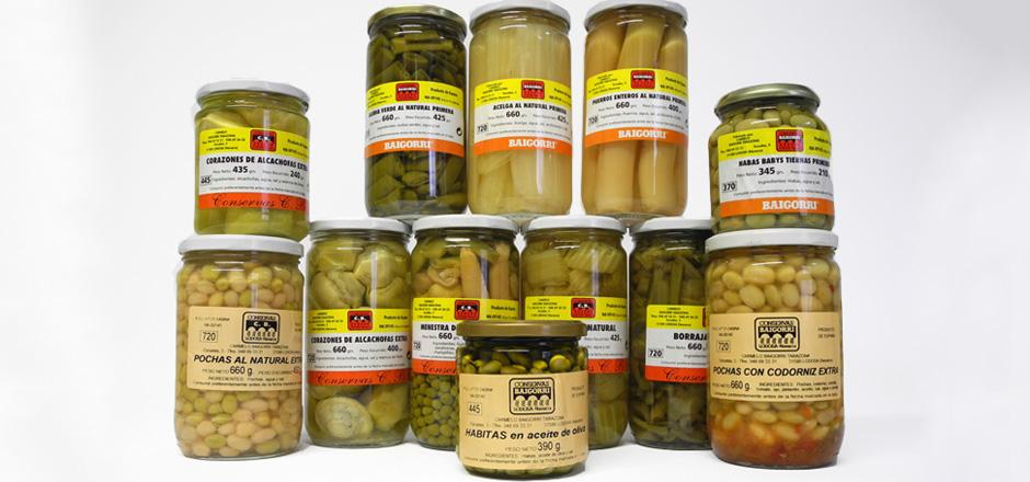 Verduras - Conservas Baigorri